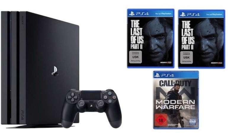 Preisfehler? Playstation 4 Pro 1TB + CoD Modern Warfare + 2x The Last of Us Part II 382,27€ (statt 489€)