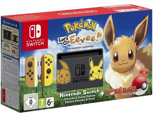 Nintendo Switch Pokémon - Let's Go Evoli! Bundle für 349€ inkl. VSK (statt 394€)