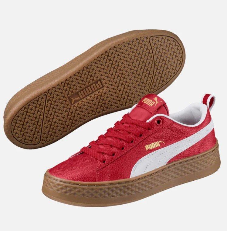"""Puma Damen Sneaker """"Smash Platform VT"""" in rot/weiss für 29,75€ (statt 60€)"""