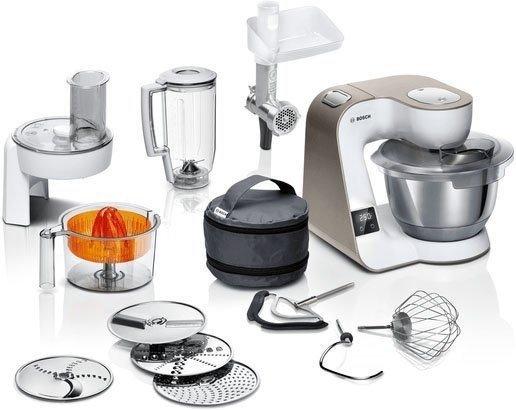 Bosch MUM5XW40 Küchenmaschine 1000W, 3,9 l Schüssel mit integrierter Waage für 305,09€