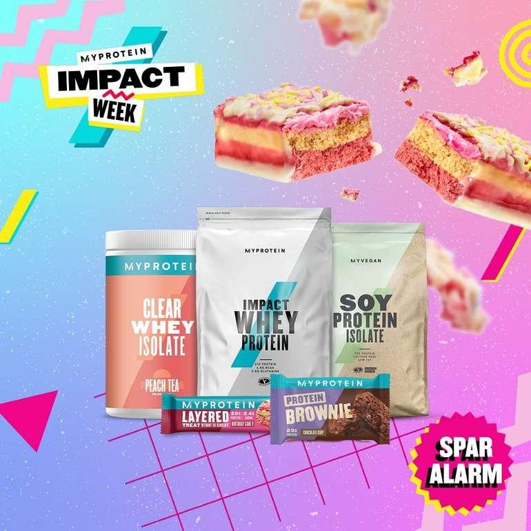 MyProtein Impact Week mit 46% Rabatt auf alles +VSK frei ab 20€ - z.B. 24er Baked Protein Cookie für 29,44€ (statt 64€)