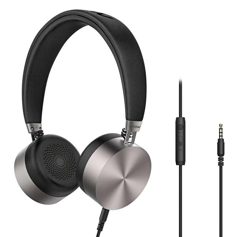 Mpow HC1 - faltbarer On-Ear-Kopfhörer mit Mikrofon für 7,99€ (Prime)