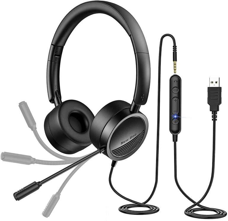 New Bee H360 PC Headset mit Mikrofon ab 14,99€ (statt 30€)