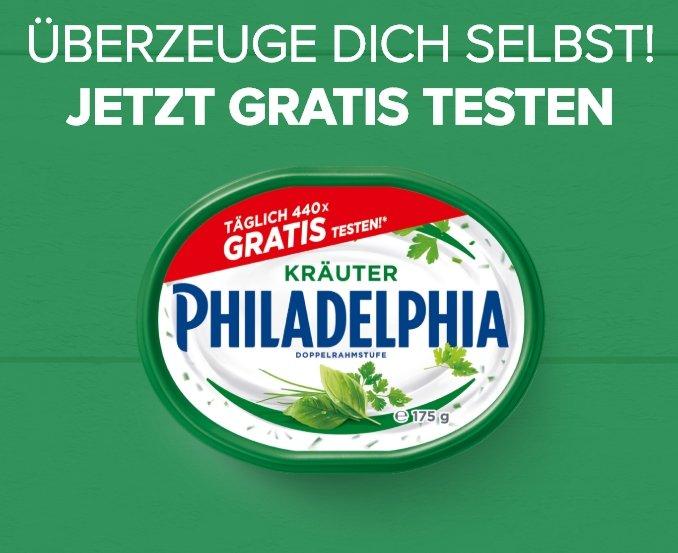 Philadelphia Kräuter kostenlos testen dank Geld-zurück-Garantie