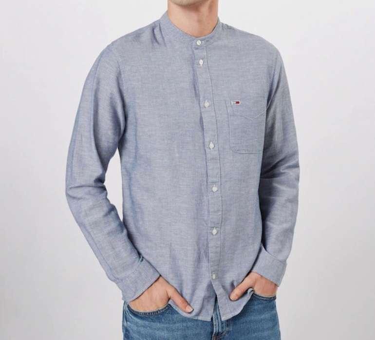 Tommy Hilfiger Herren Jeans Hemd 'Mao Linen' in dunkelblau für 23,36€ (statt 60€)