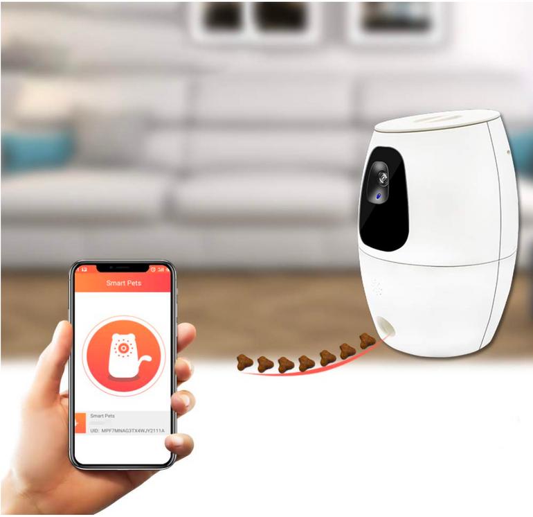 Decdeal 720P Hundekamera mit Leckerli Ausgabe (Wifi-Anbindung) für 97,49€ inkl. Versand