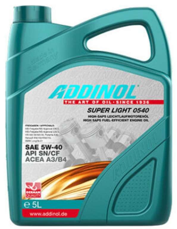 Addinol Super Light 0540 5W-40 Motoröl (5 Liter) für 23,95€ inkl. Versand (statt 28€)