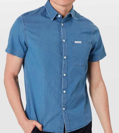 Calvin Klein Jeans Hemd 'Indogp Instit Pocket Reg SS' für 31,44€ (statt 49€)