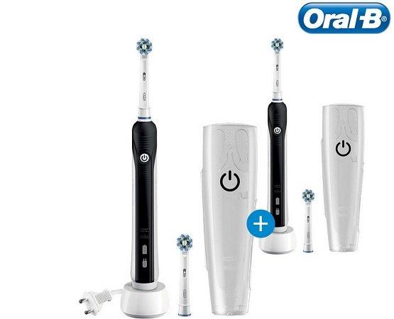 Doppelpack Oral-B Pro 760 Zahnbürste mit Reiseetui + 4x Cross-Action-Kopf 54,95€