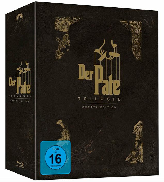 Der Pate (1 + 2 + 3) - Omerta Edition Exklusiv [Blu-ray] für 27,97€ (statt 42€)
