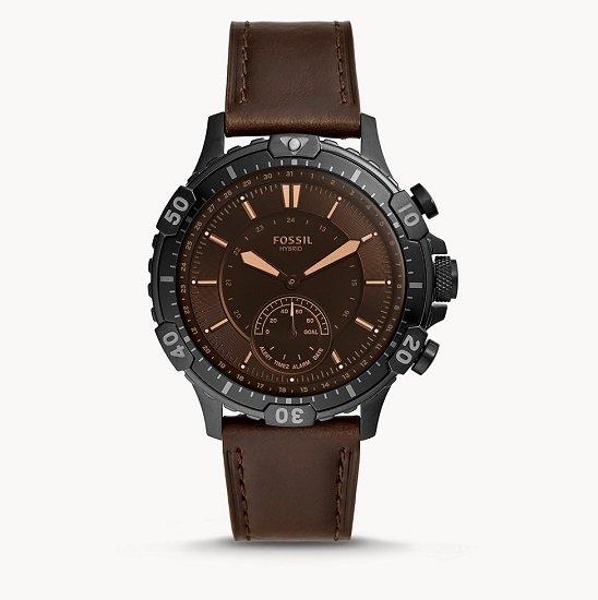 Fossil Garret Hybrid Herren Smartwatch mit Leder-Armband für 72,25€ (statt 169€)