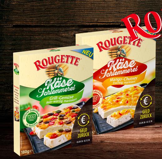 Kostenlos: Rougette Käse-Schlemmerei gratis testen dank Geld zurück Garantie