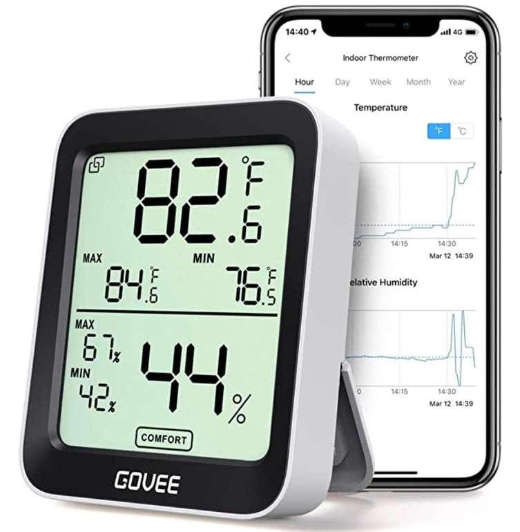 Govee Mini LCD Digital Thermometer bzw. Hygrometer mit Benachrichtigungs Alarm ab 9,35€ inkl. Prime Versand