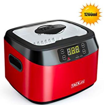Tacklife MUC01 Ultraschallreiniger mit 1200ml und Entgasungsfunktion für 45,99€