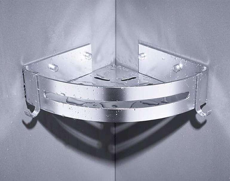 Lebexy Eckablagen-Duschkorb mit zwei Halterungen für 8,89€ inkl. Prime VSK