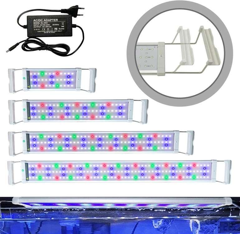 Hengda LED Aquarium Beleuchtung reduziert, z.B. 18W für 25,89€ (statt 37€)