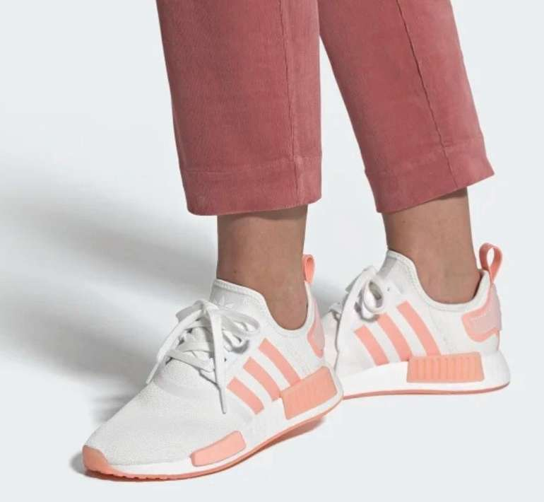 "Adidas Originals NMD_R1 Damen Sneaker im ""White/Haze Coral""-Colourway für 95,49€ (statt 136€)"