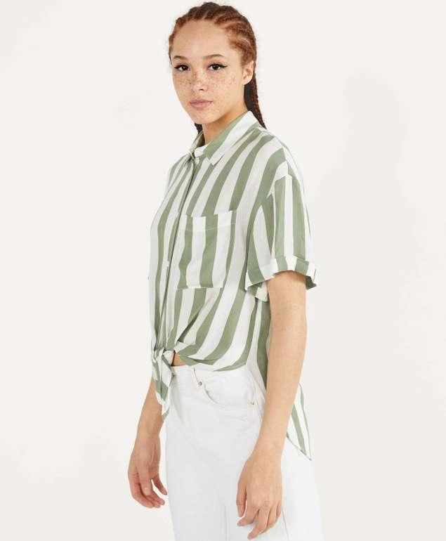 Bershka langes Hemd mit Knoten in 4 Farben für je 10,79€ zzgl. Versand (statt 18€)