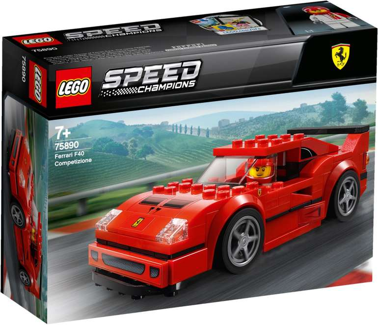 LEGO Speed Champions 75890 - Ferrari F40 Competizione für 10,99€ inkl. Prime Versand (statt 15€)