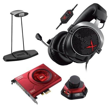 Creative Sound BlasterX H5 Headset + ZX Soundkarte + Headset-Halter für 149,99€