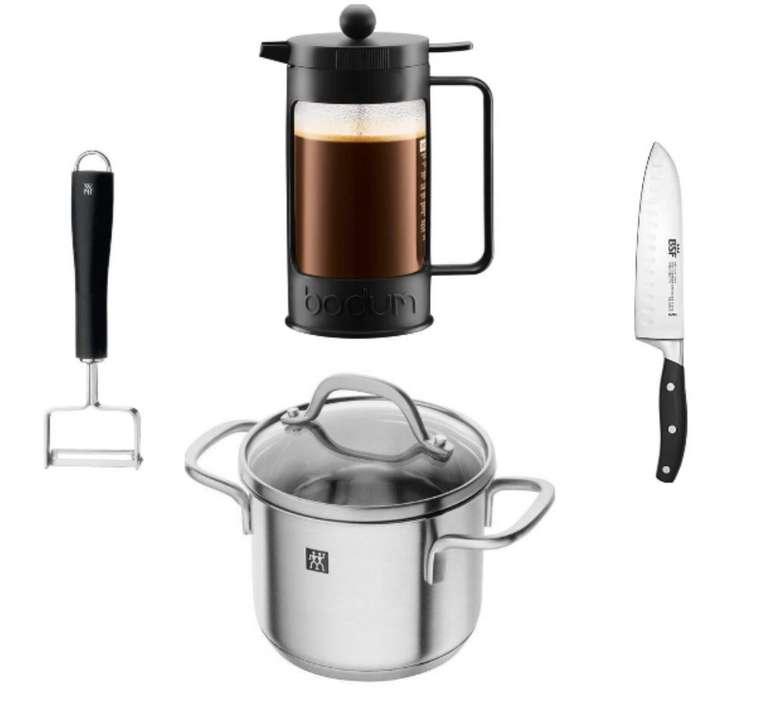 Haushaltsset aus Kaffeebereiter, Messer, Kochtopf & Schäler für nur 50,96€ inkl. Versand (statt 83€)