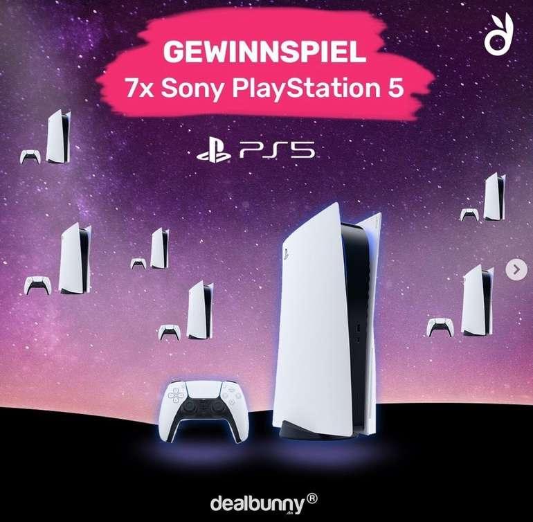 PlayStation 5 (PS5) Mega Gewinnspiel: dealbunny.de verlost insgesamt 7x die Sony PlayStation 5 Konsole