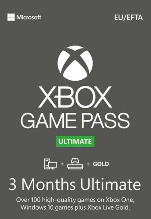 Xbox Game Pass Ultimate – 3 Monate Abonnement (Verlängerung für aktive Abos via Türkei VPN) für 16,22€