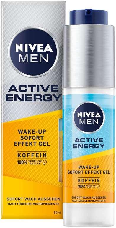 Nivea Men Active Energy Wake-up Sofort-Effekt Gel (50 ml) für 5,35€ inkl. Prime Versand (statt 11€) - Spar-Abo