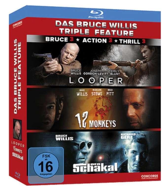 """Das Bruce Willis Triple Feature """"Looper, 12 Monkeys und der Schakal"""" (Blu-ray) für 7,19€ inkl. Versand (statt 15€)"""