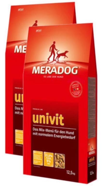 Mera Dog Hunde Trockenfutter 25kg (2 x 12,5kg) 3 Sorten je 24,99€ inkl. Versand
