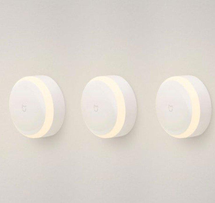 3er Pack Xiaomi Mijia Yeelight MJYD01YL Nachtlichter mit IR-Sensor für 27,09€ (statt 33€)