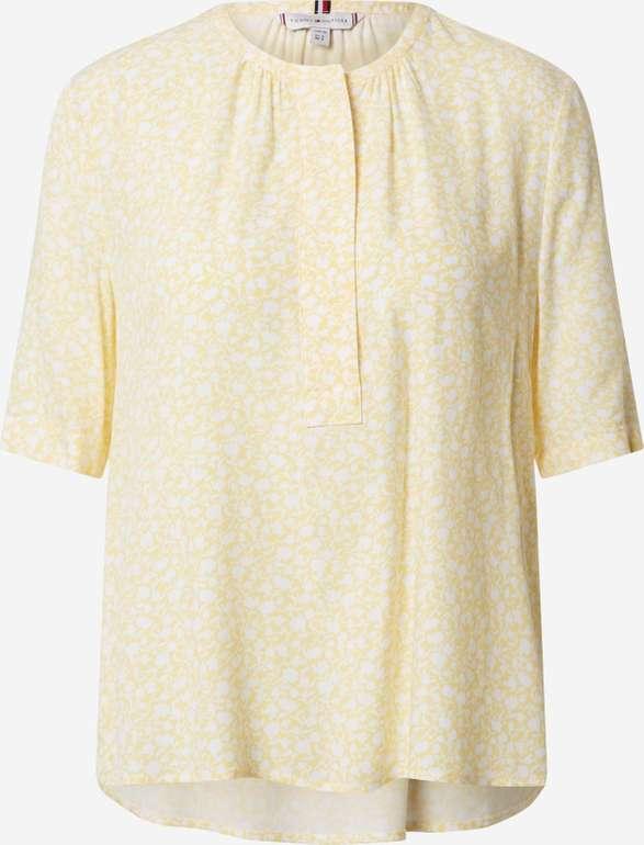 """Tommy Hilfiger Bluse """"Danee Blouse ss' in pastellgelb für 39,83€ inkl. Versand (statt 64€)"""