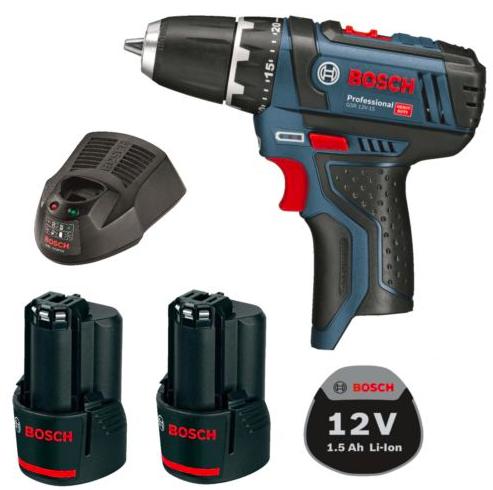 Bosch GSR 10,8-2 Li Akkuschrauber + 2x Akku + Schnell-Ladegerät für 89,99€