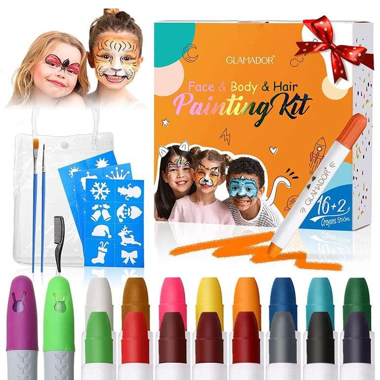 Glamador Kinderschminke (16 +2 Farben) für 8,99€ inkl. Prime Versand (statt 15€)