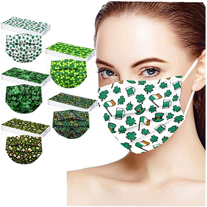 Huyuri 50er Pack Einweg Mund-Nasen-Masken mit St. Patrick's Day Motiven für je 7,99€ inkl. Versand