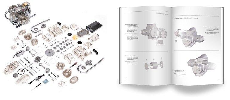 Franzis BMW R 90 S-Boxermotor Modellbausatz 2