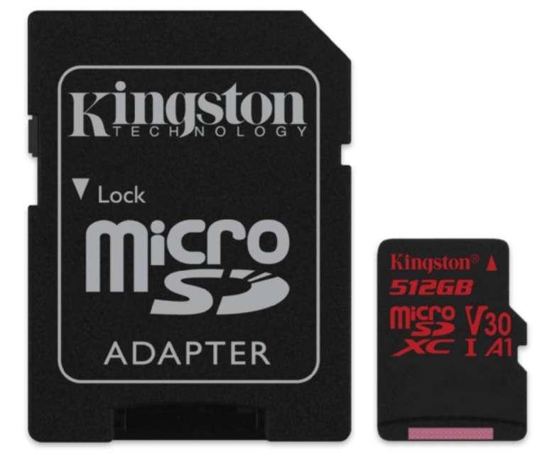Kingston Canvas React Micro-SD Speicherkarte mit 512GB Speicher für 99€