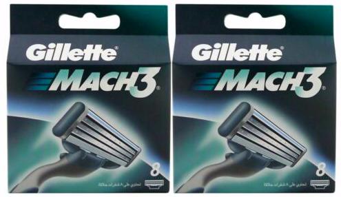 16er Pack Gillette Mach3 Rasierklingen (2x 8 Klingen) für 24,99€ inkl. Versand