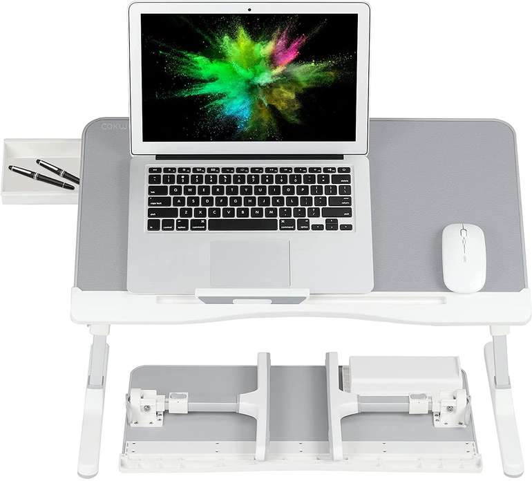 Cokwel verstellbarer Laptoptisch (für Bett/Sofa) für 21,99€ inkl. Versand (statt 39€)