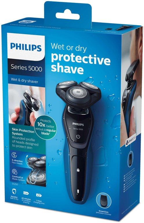 Philips S5250/06 Nass-/Trockenrasierer mit Präzisionstrimmer für 54€ inkl. VSK