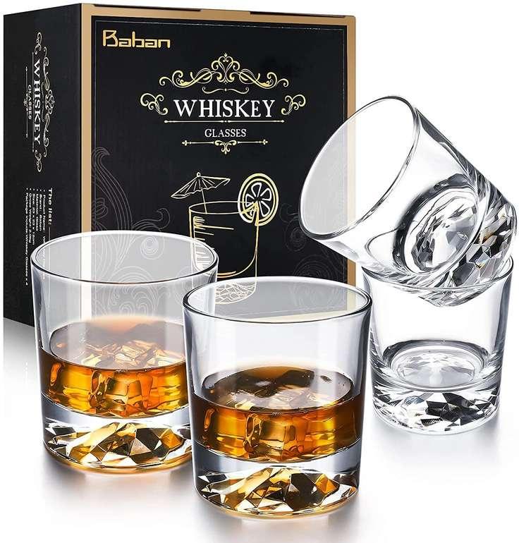 Baban 4er Set Whisky Gläser (300ml) für 16,24€ inkl. Prime Versand (statt 25€)