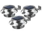 Easymaxx Solar-Dachrinnenleuchten aus Edelstahl im 3er-Set für 19,95€