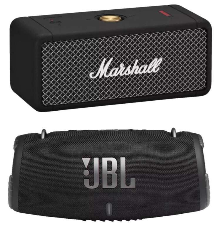 JBL Xtreme 3 + Marshall Emberton Bluetooth Lautsprecher für 239€ (statt 353€)