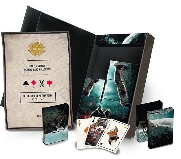 Harry Potter 8x Spielkarten Ltd. Edition Set + T-Shirt