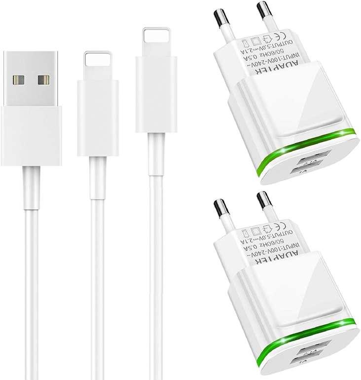 Luoatip USB Ladegeräte mit 3m Ladekabel im Doppelpack für 7,49€ inkl. Prime Versand (statt 15€)