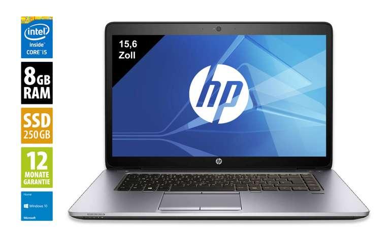 "HP EliteBook 850 G2 - 15,6"" Notebook (i5, 8GB RAM, 250GB SSD, Win 10) für 303,20€ (B-Ware)"