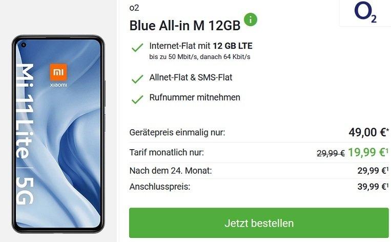 Xiaomi Mi 11 Lite 5G inkl. Mi Smart Clock 2