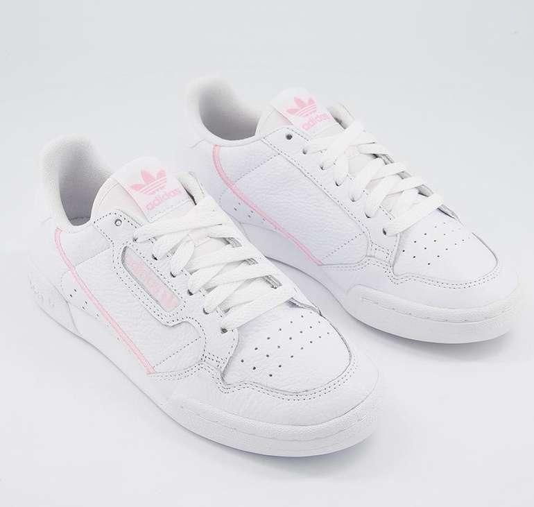 """Adidas Originals Continental 80 Damen Sneaker im """"White/True Pink""""-Colourway für 50€ (statt 59€)"""