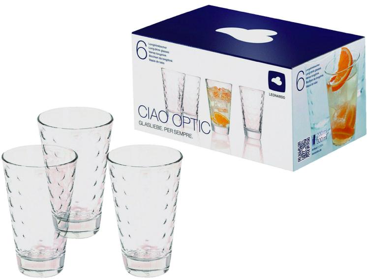 6-tlg. Leonardo 012684 Ciao Optic Gläser-Set für 8€ inkl. Versand (statt 11€)
