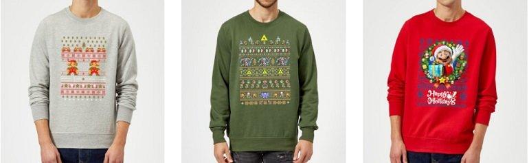 Offizielle Nintendo Weihnachtspullover Zavvi